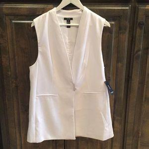 New Alfani Nouveau Fleur White Tunic Vest Top 10